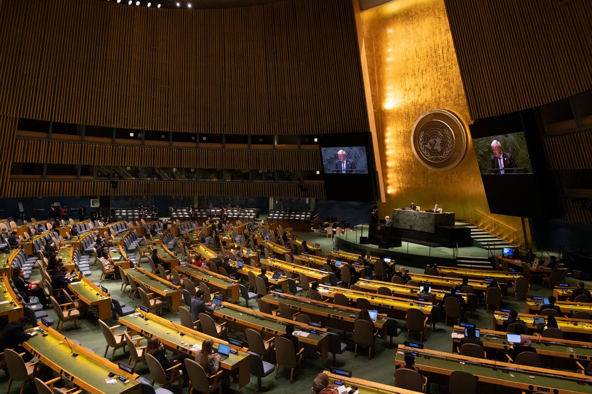 The Glasgow @COP26 summit is the turning point for humanity. We must come together in a collective coming of age. And we must take responsibility for our planet. Read the Prime Minister's speech at the @UN General Assembly → gov.uk/government/spe… #UNGA