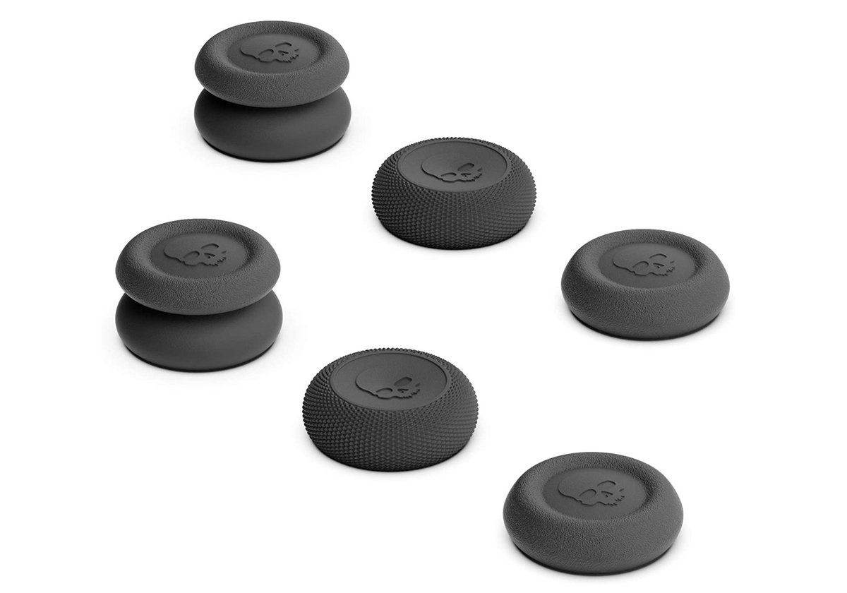 Skull & Co. Black Thumb Grips for PS5 DualSense, 3 Pairs $9.99 Amazon