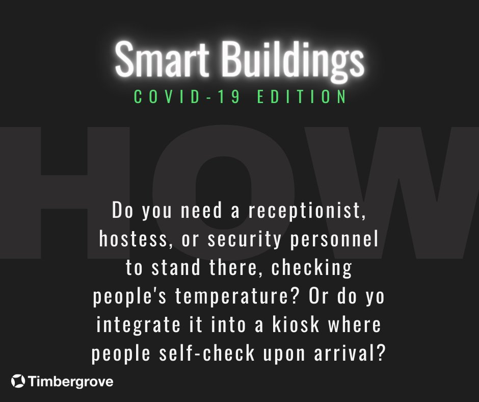 #SmartBuildings means being able to scan each and everyone for a temperature, without needing personnel to do it themselves How? We explain more at the blog timbergrove.com/blog-post/how-…  #futuretech