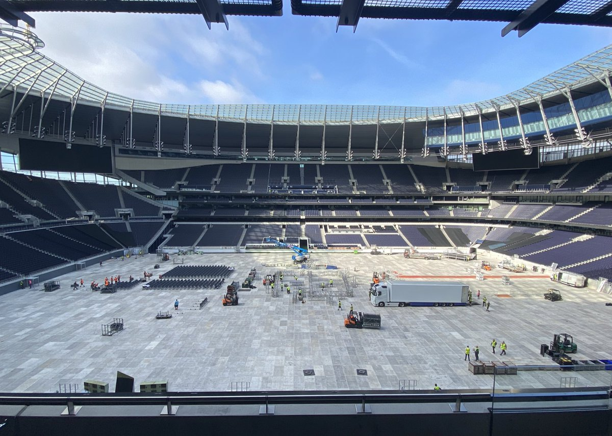 RT @TheSpursExpress: The #Tottenham Hotspur Stadium getting ready for #JoshuaUsyk https://t.co/Rzry1wQ6IX