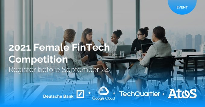 📢 One day to go for applications to close for #FemaleFinTech2021 competition run by...