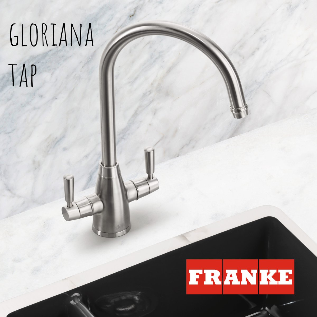 With its distinctive curved swan-neck, the new Gloriana tap combines a timeless, classic design with two chic and on-trend finishes to add an elegant touch to any traditional or contemporary kitchen. franke.com/content/corpor…