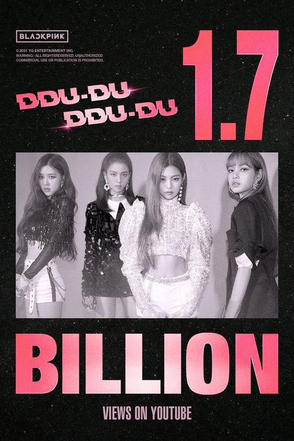 DDU-DU DDU-DU của BLACKPINK cán mốc 1,7 tỷ lượt xem trên Youtube, xác lập một kỷ lục mới
