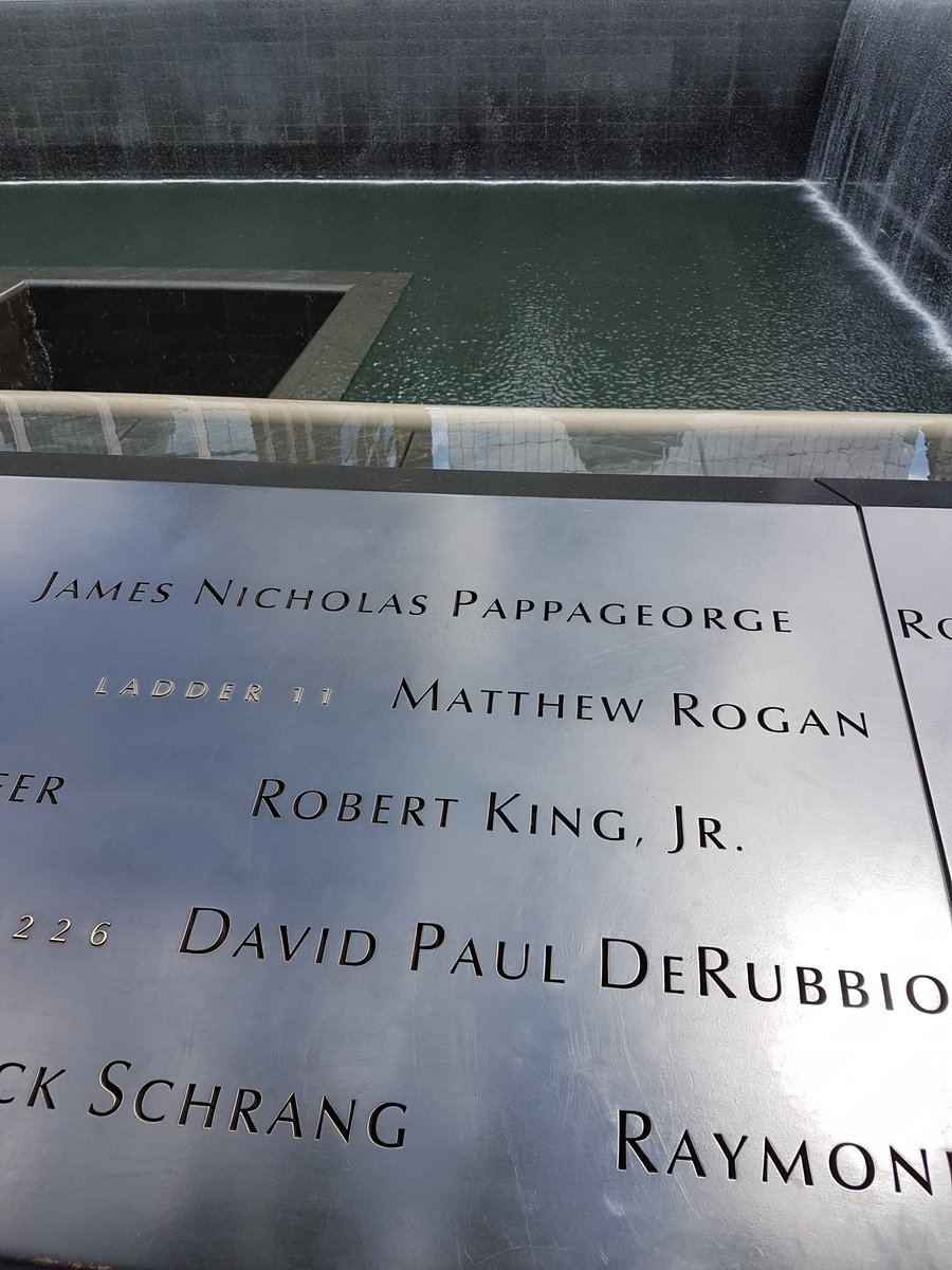 I'll never forget seeing all the names. 20 years doesn't quite feel possible. As ever, all of my thoughts go to those who where there and those who lost their loved ones. #NeverForget