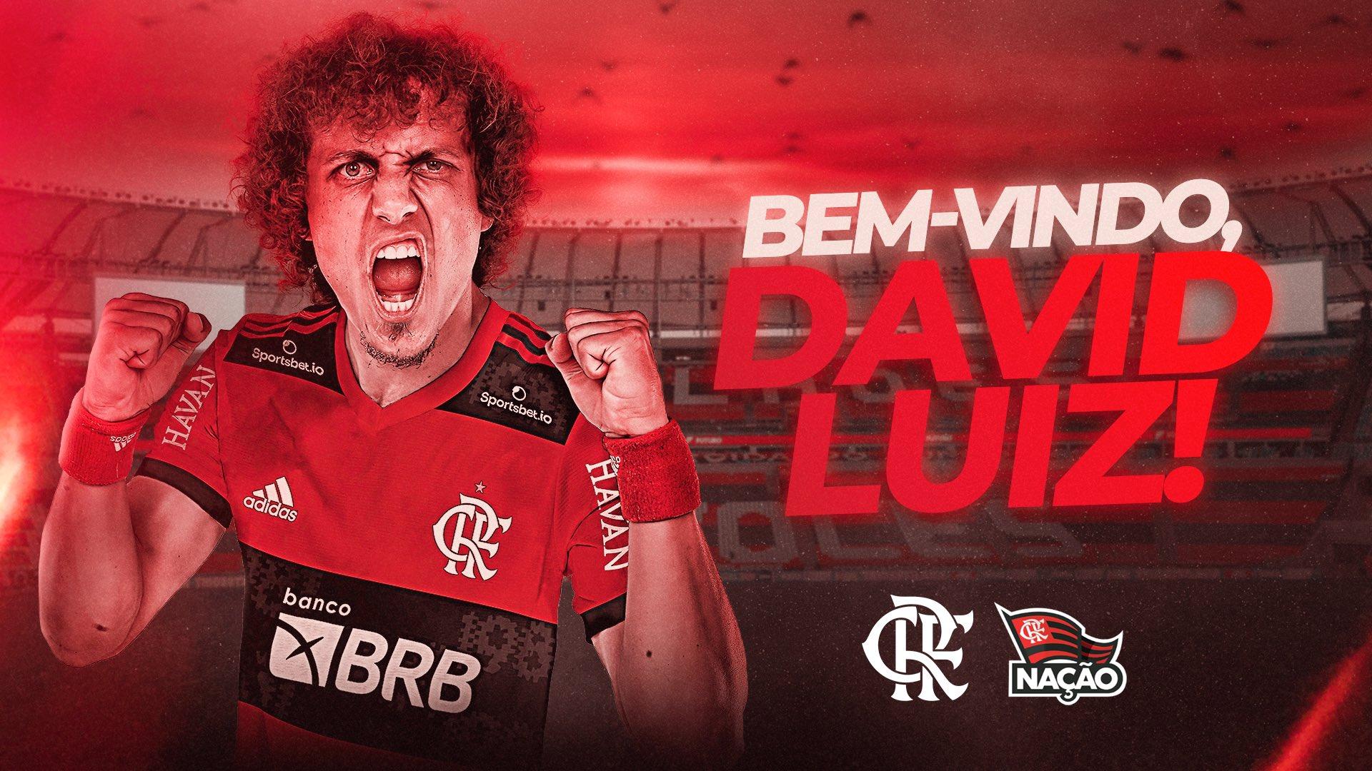 É DO MENGÃO! Após novela, Flamengo anuncia contratação do zagueiro David Luiz
