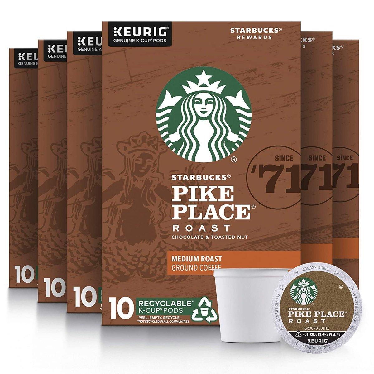 Starbucks Medium Roast K-Cup Coffee Pods Roast, 60 Count  Only $24.98!!