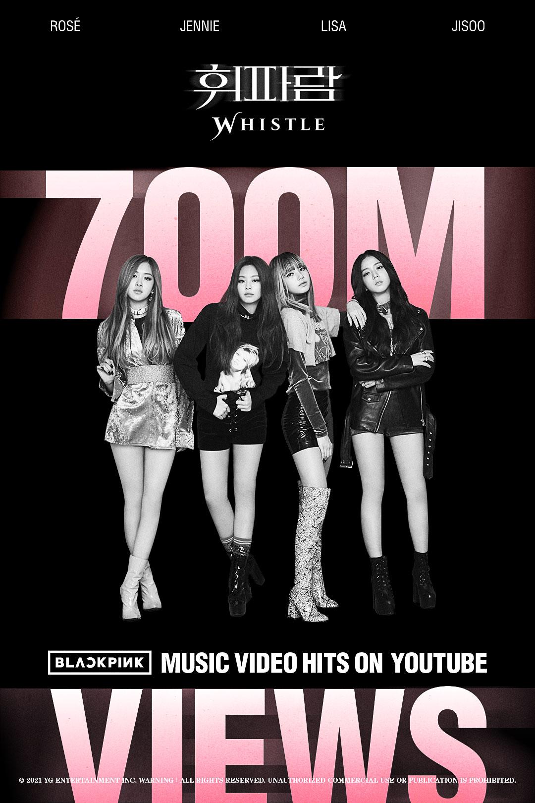 BLACKPINK Hits 700M on YouTube