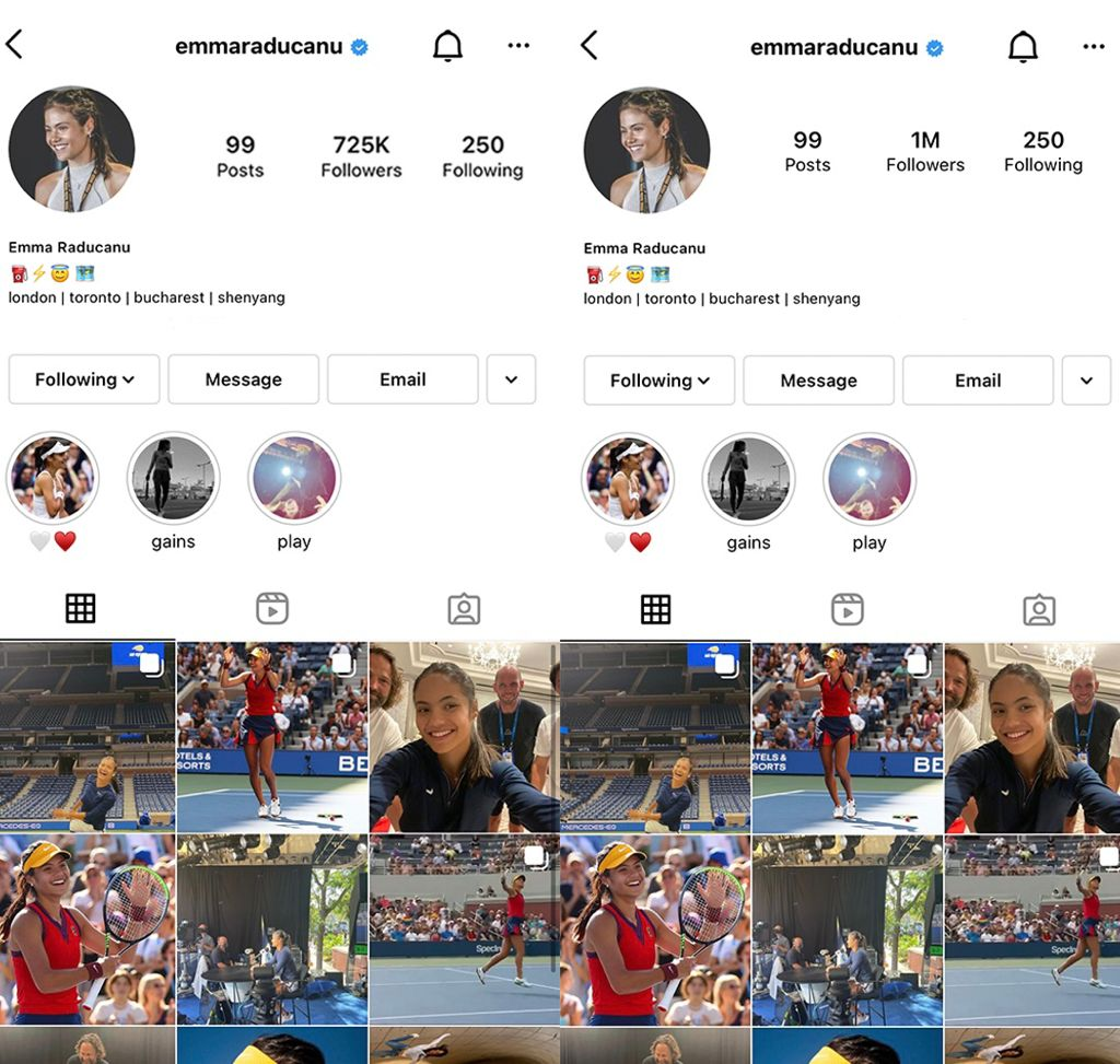 How to gain 275k followers in a day on @instagram? Win the #USOpen