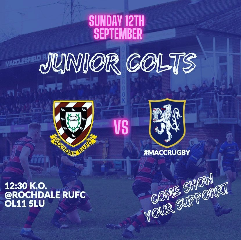 test Twitter Media - The Junior Colts are in action tommorow away at @RochdaleRUFC KO 12:30!!! Get behind the lads and get down to support!! #maccrugby https://t.co/b8Y9mcJTdl