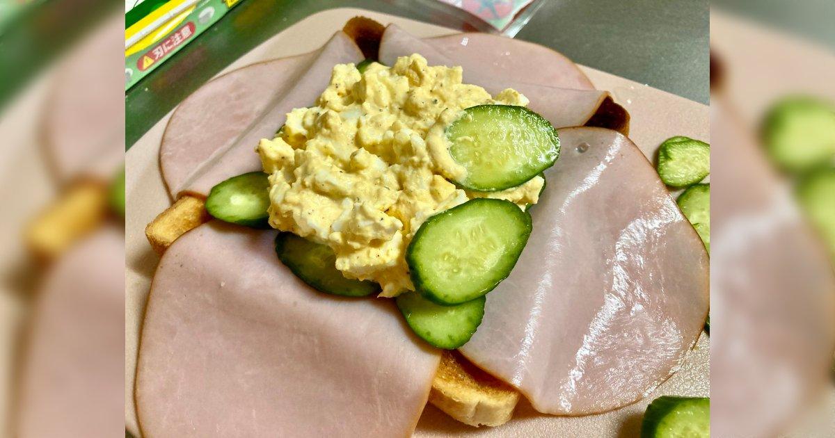 すごいコロンブスの卵的発想!今度やってみたい。/具材がこぼれにくいサンドイッチの作り方に目から鱗「ホットサンドメーカー使えば完璧」「肉感もアップしそう」