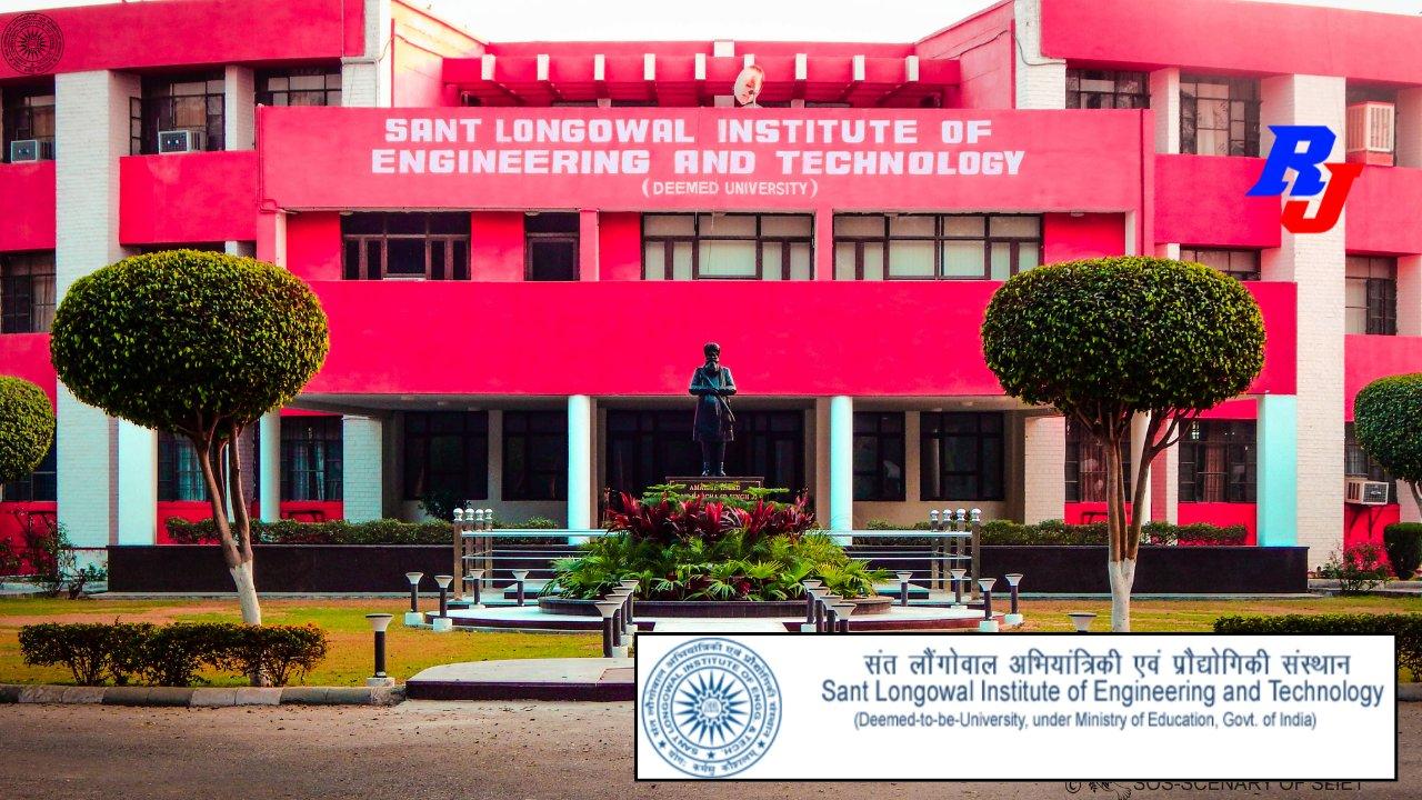 Recruitment of Assistant Professor (Regular) in SLIET, Punjab, India, Total Post=40