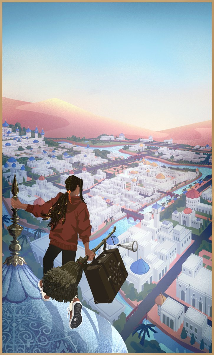 🐍世界一周の旅 出発の朝 #旅するジャミル #ツイステファンアート