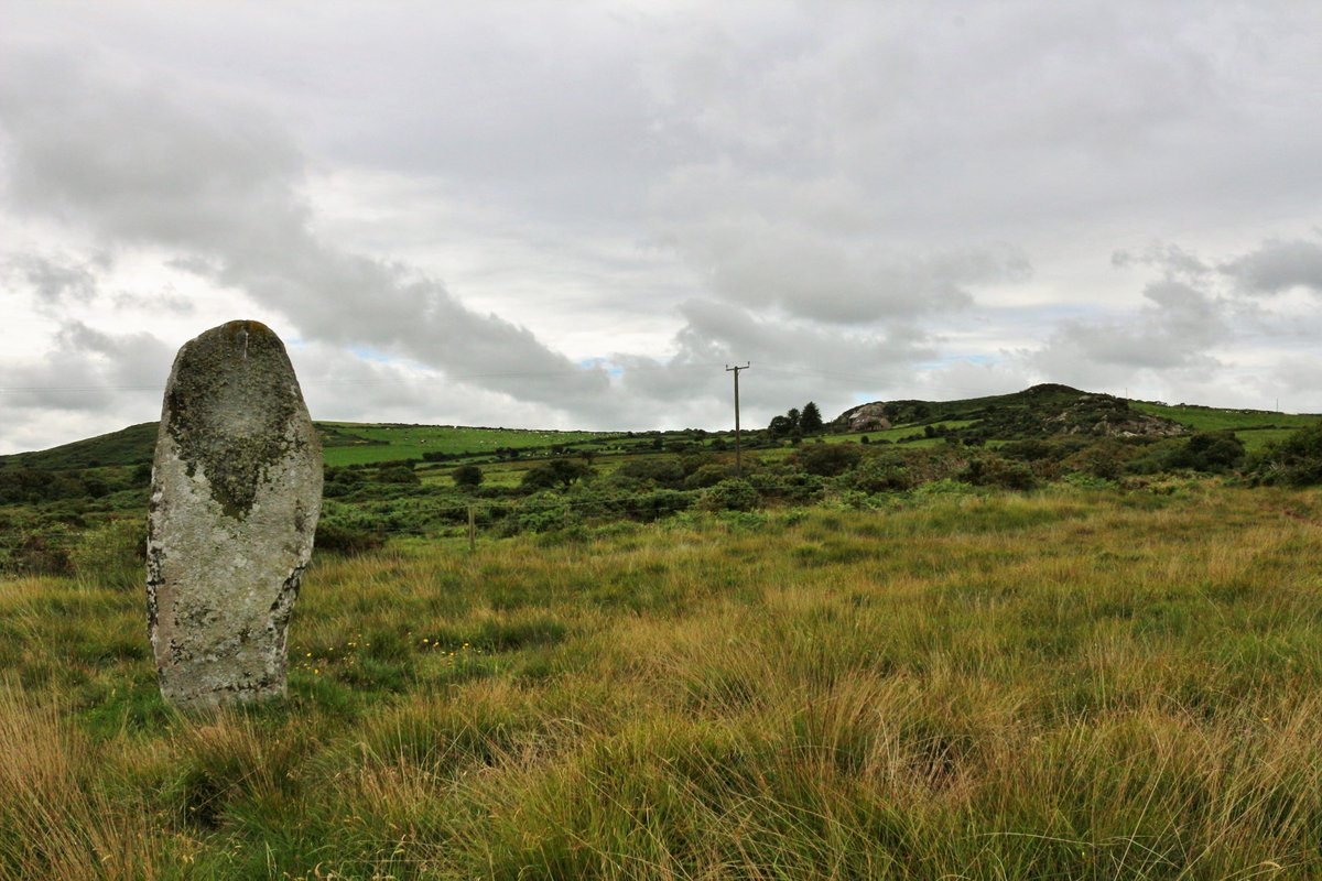 Rhos y Clegyrn St Nicholas for #StandingStoneSunday originally one of a pair Some 70m to the north-east was a stone ring while a possible embanked stone circle lay 15m to the south-west (Darvill&Wainwright2016) Ffyst Samson is nearby