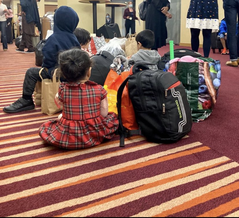 Another pic of our Afghan friends who arrived yesterday and were greeted by @wlondonwelcome. I'm excited to start volunteering with this amazing grass roots charity. These tiny ones have a long road ahead of them…but already they have devoted friends in their new world.