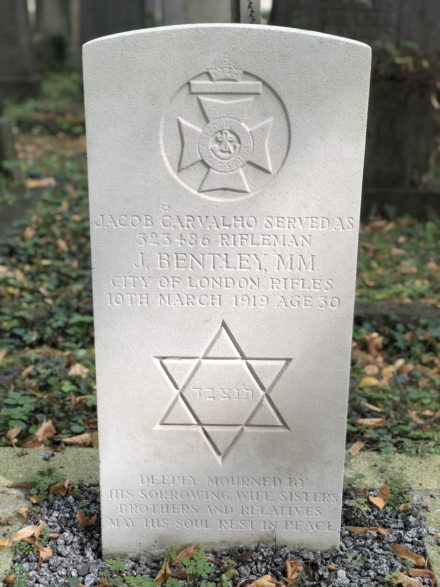 As the occasional gold leaf flutters to the ground on the cusp of Autumn, two pure white Portland marker stones stand out amongst the grey graves. The only two made of Portland Stone also bearing the Star of David.  Bocklemünd New Jewish Cemetery, Köln (Cologne)    @CWGC