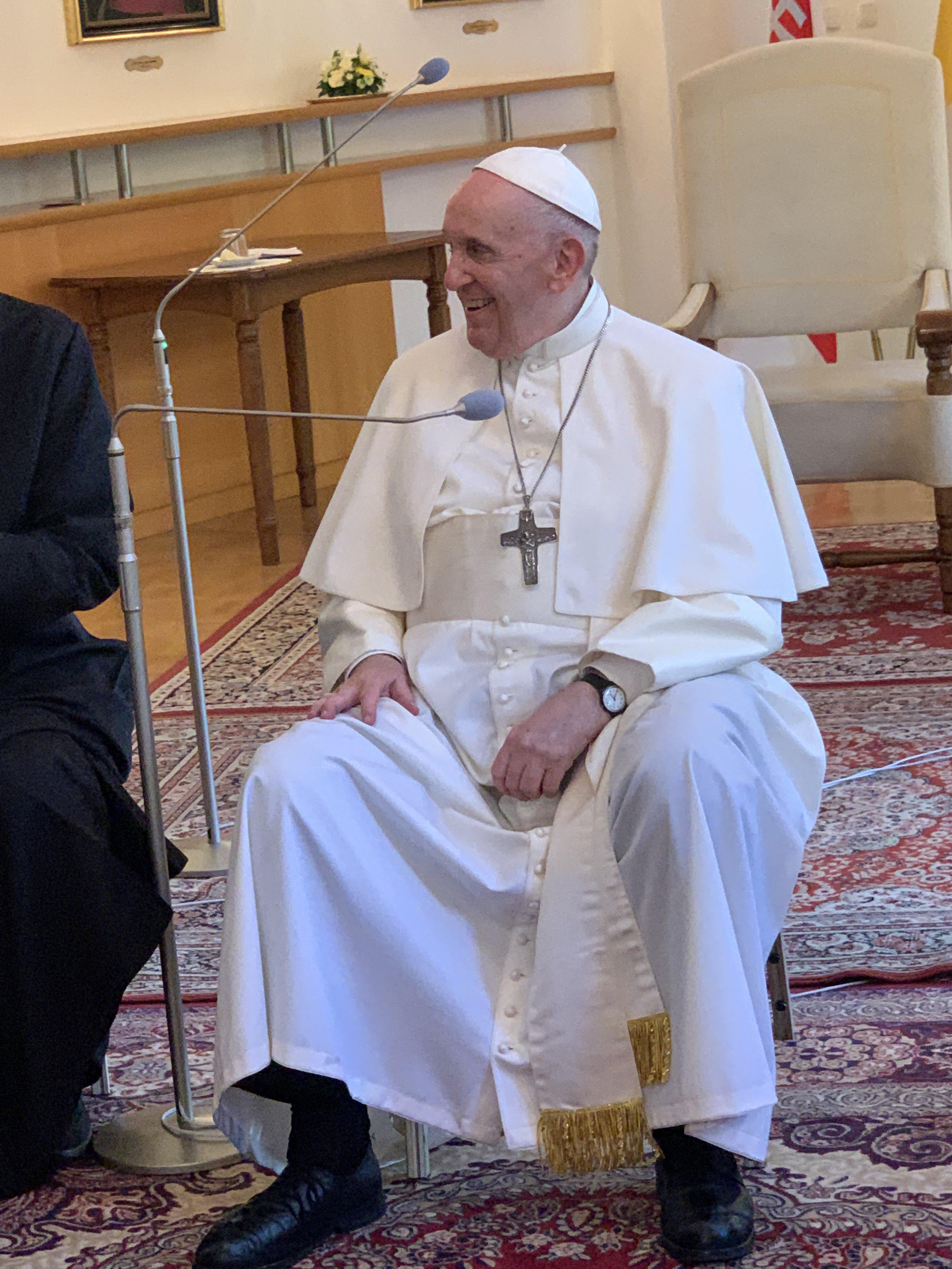 El Papa, con los jesuitas