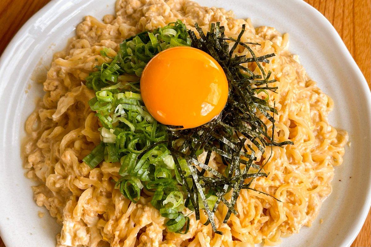 簡単で美味しそう・・・!サッポロ一番をカルボナーラ風に仕上げたアレンジレシピ!