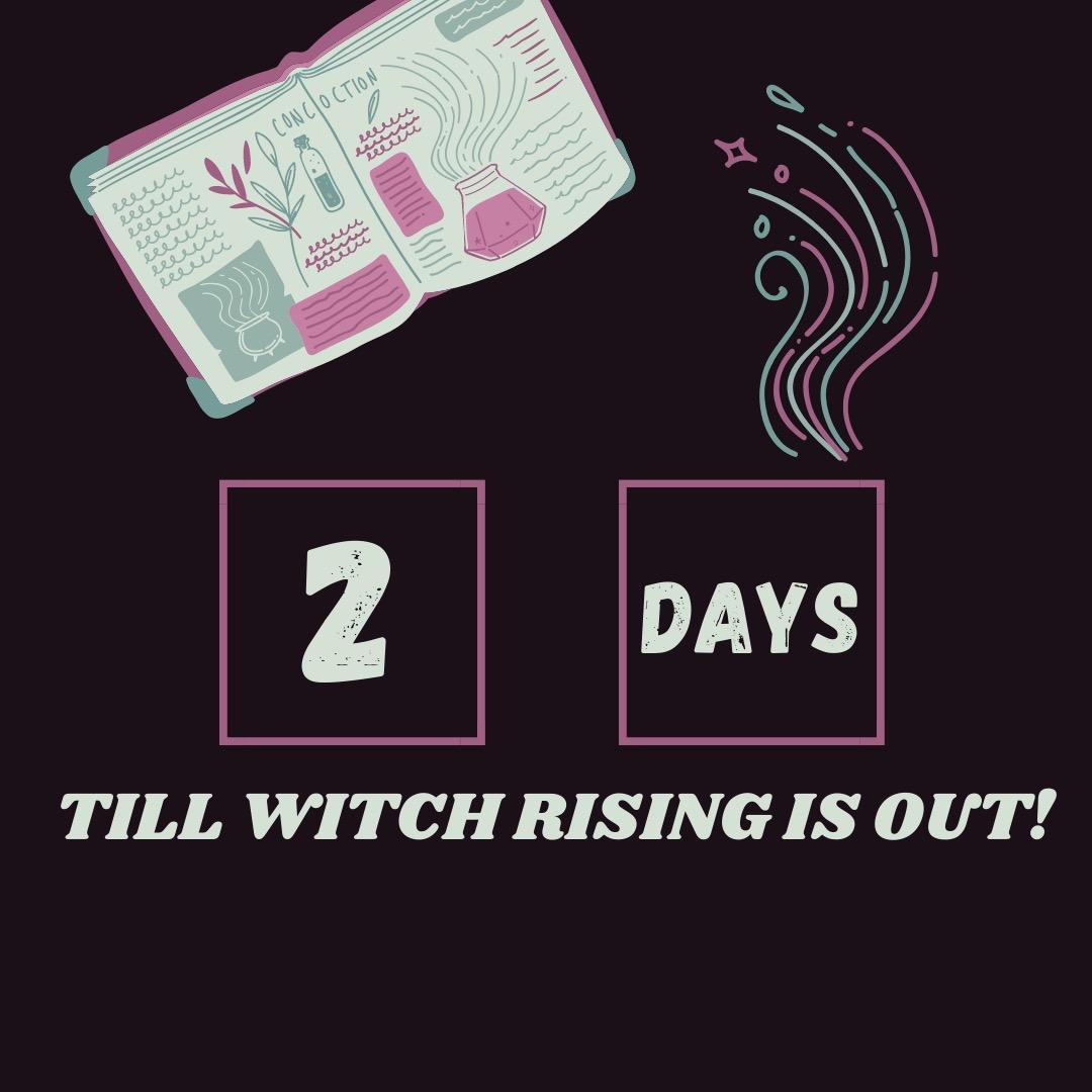 Count down... 🖤 Just 2 more days until my latest book, #WitchRising, hits a bookstore near you! This latest book with co-author @NancyOhlin is a sequel to B*Witch which is currently on sale for only $2.99 for the #ebook! #ComingSoon amazon.com/dp/0759557691/…