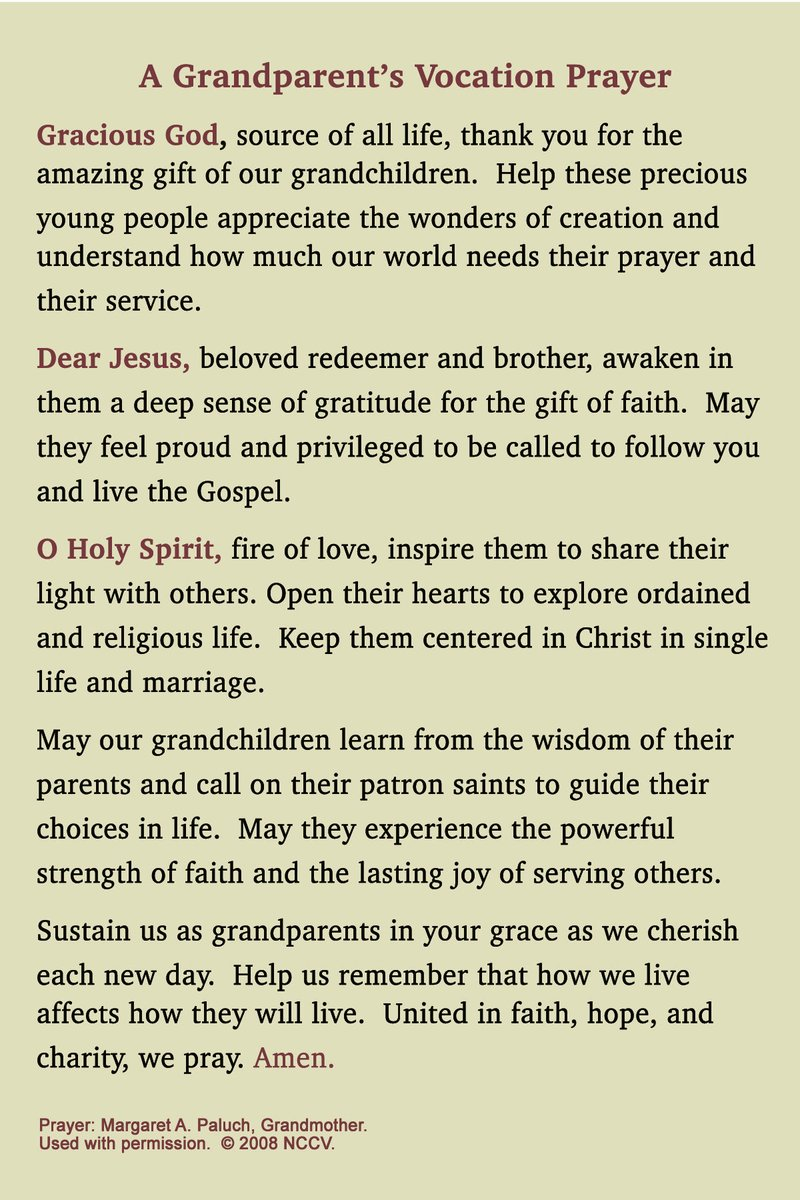 test Twitter Media - Grandparents Day! Today the favor is returned as grandparents are honored and receive gratitude for their strength, kindness, nurturing, and wisdom.  Take a moment today to say this prayer in honor of the grandparents in your life and to do something special for them. https://t.co/SufYWJB72e