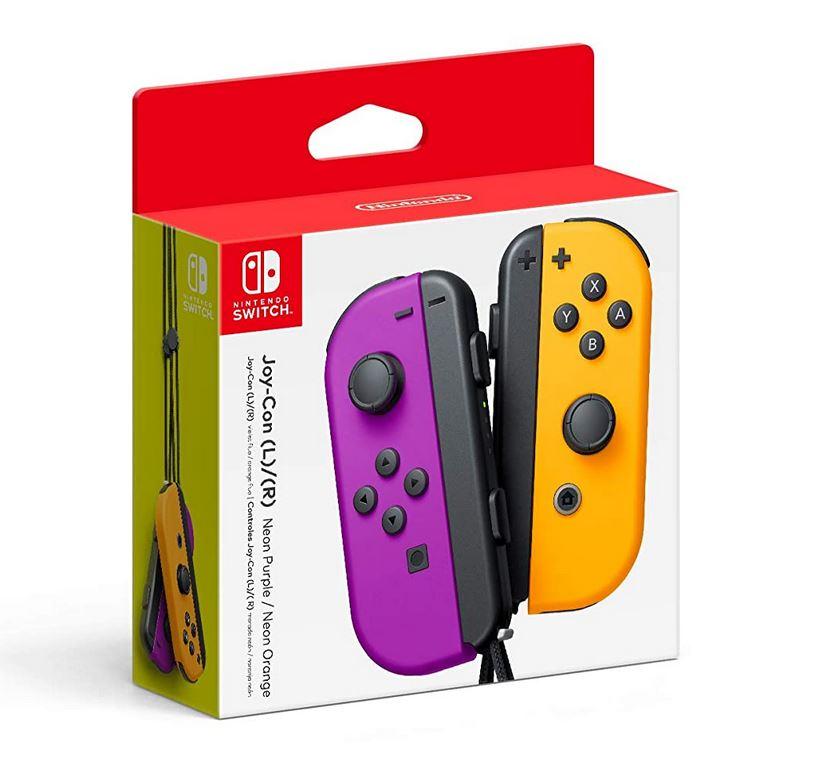 Nintendo Neon Purple/ Neon Orange Joy-Con (L-R) $69 via Amazon (Prime Eligible).