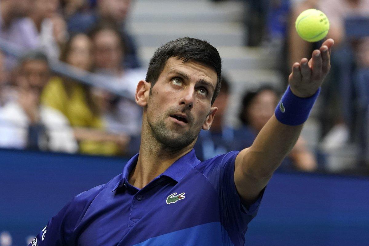 Medvedev, Novak Djokovic'i 6-4 mağlup etti ve setlerde durumu 2-0'a getirdi. #USOpen