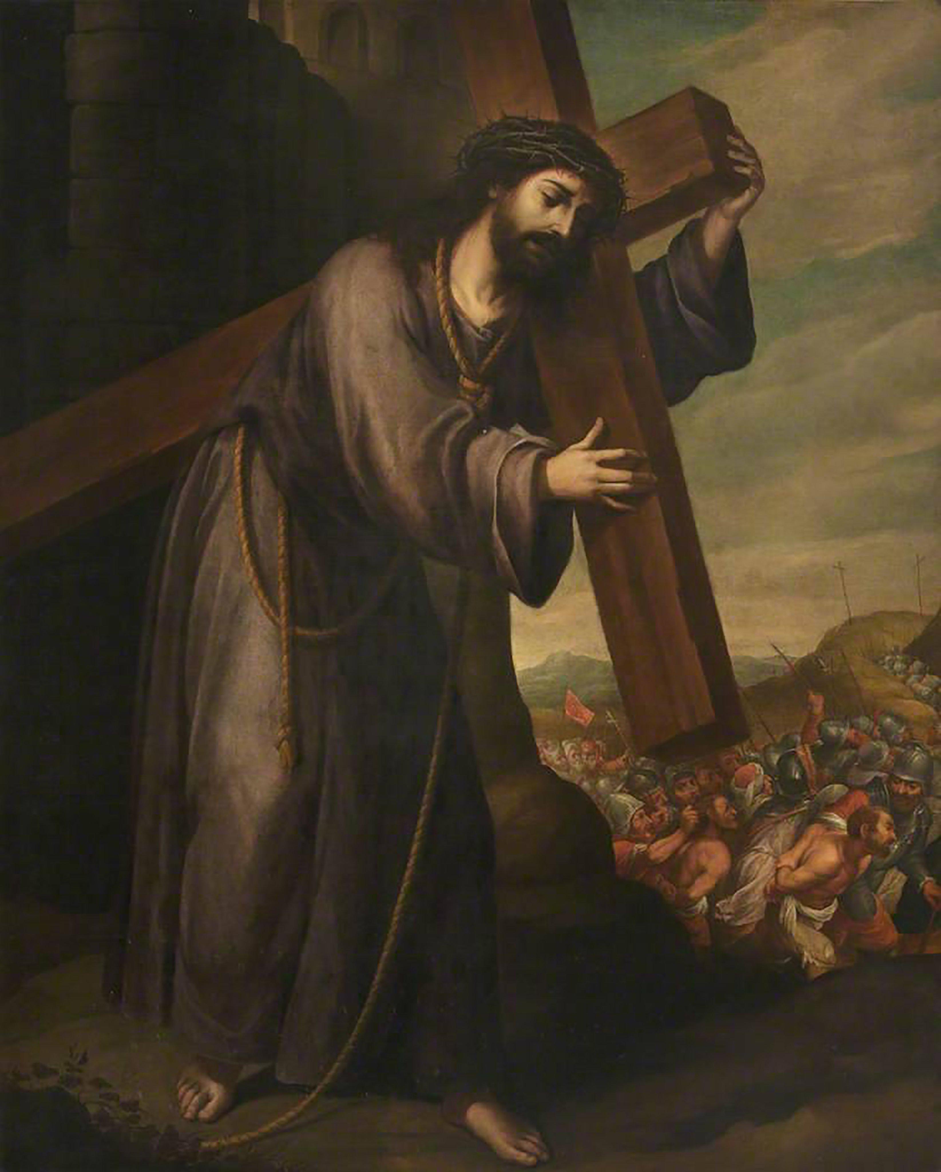 Jesus Cristo carregando a cruz
