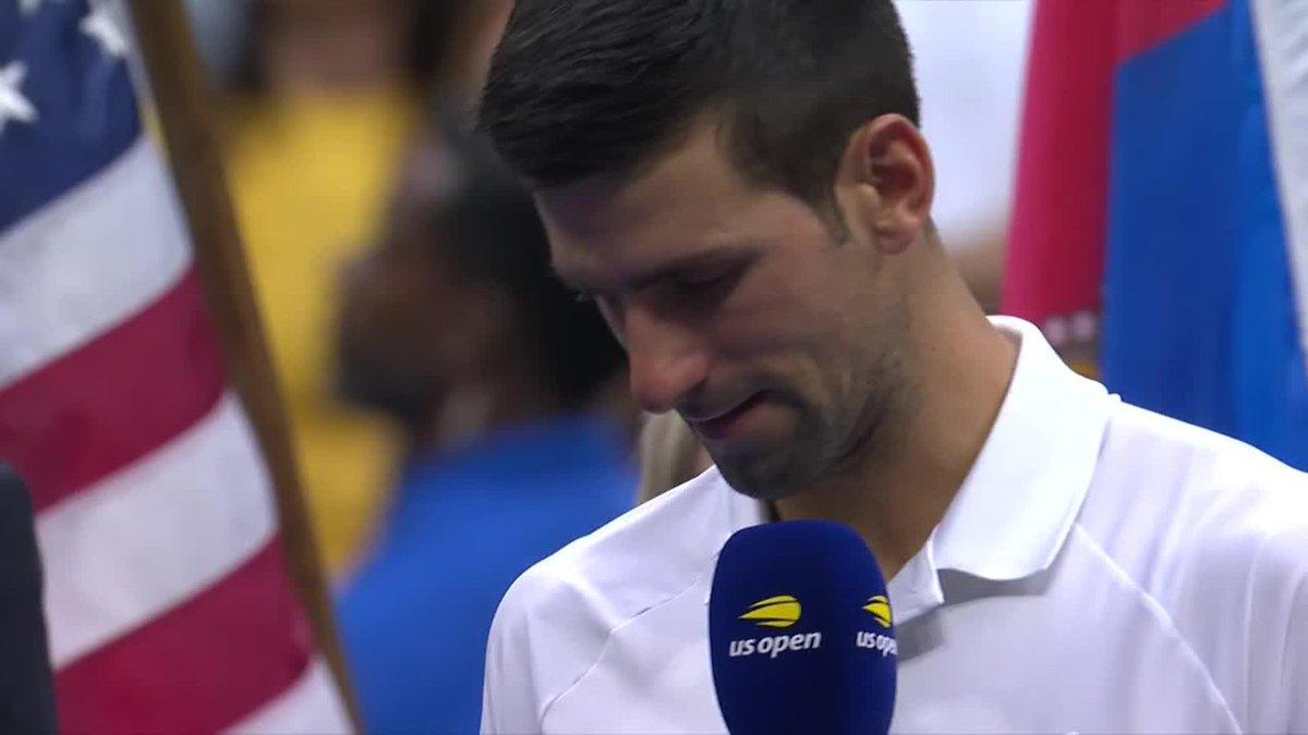 Novak Djokovic: 'Bugün maçı kazanamasam da kalbim neşeyle doldu ve şu an yaşayan en mutlu insanım. Beni kortta çok özel hissettirdiniz, ruhuma dokundunuz, New York'ta hiç böyle hissetmemiştim. Desteğiniz için teşekkürler.' #USOpen