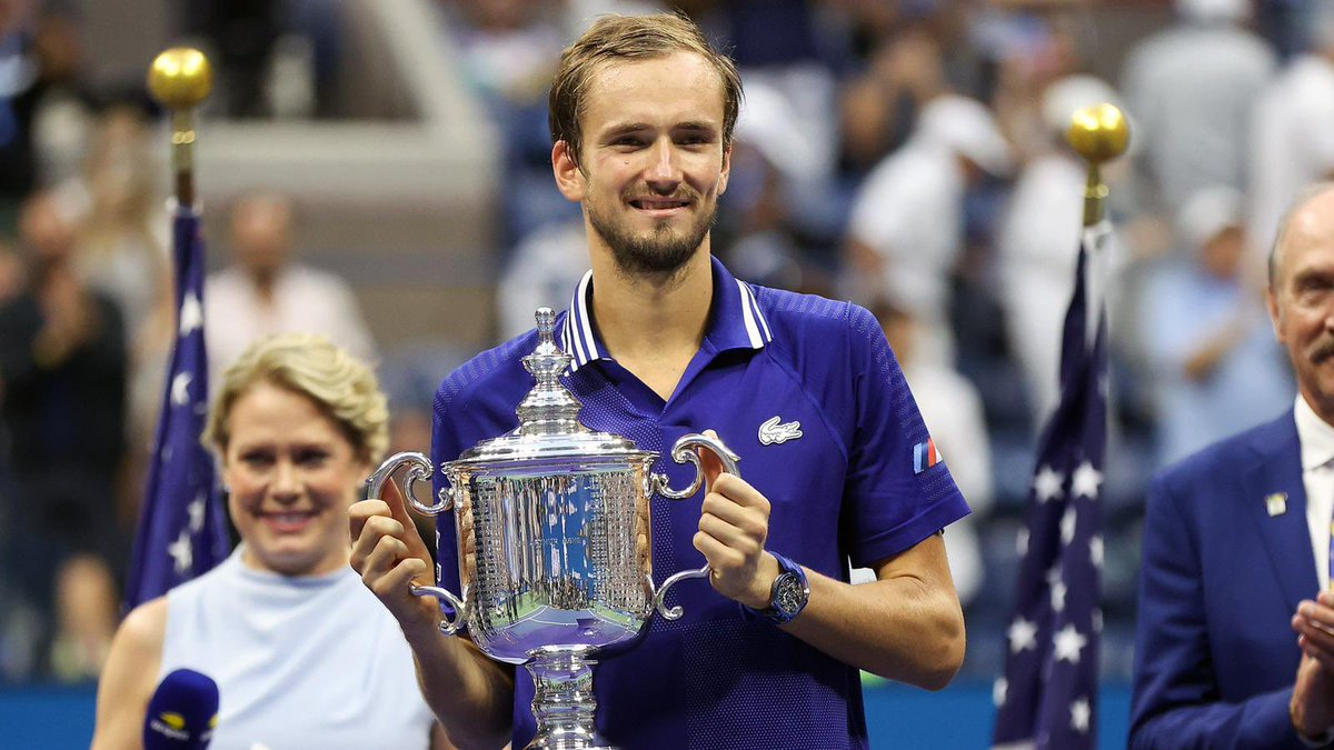 Congratulations @daniilmedwed, well deserved! No words can describe how it feels to win your first @usopen, but I bet you're the happiest man alive right now!
