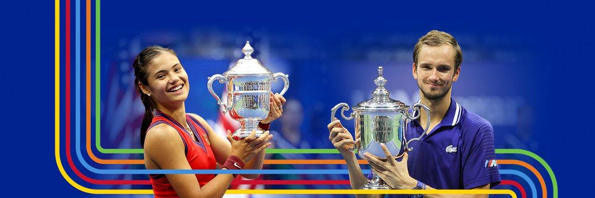 Emma Raducanu ve Daniil Medvedev ikisi de kupayı sonuna kadar hak ettiler.   #USOpen