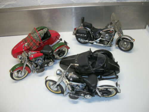 Lot of 3 Franklin Mint  Davidson Collectibles Sidecars 1958 Dou-Glide   ebay.com/itm/Lot-3-Fran…   🇺🇸