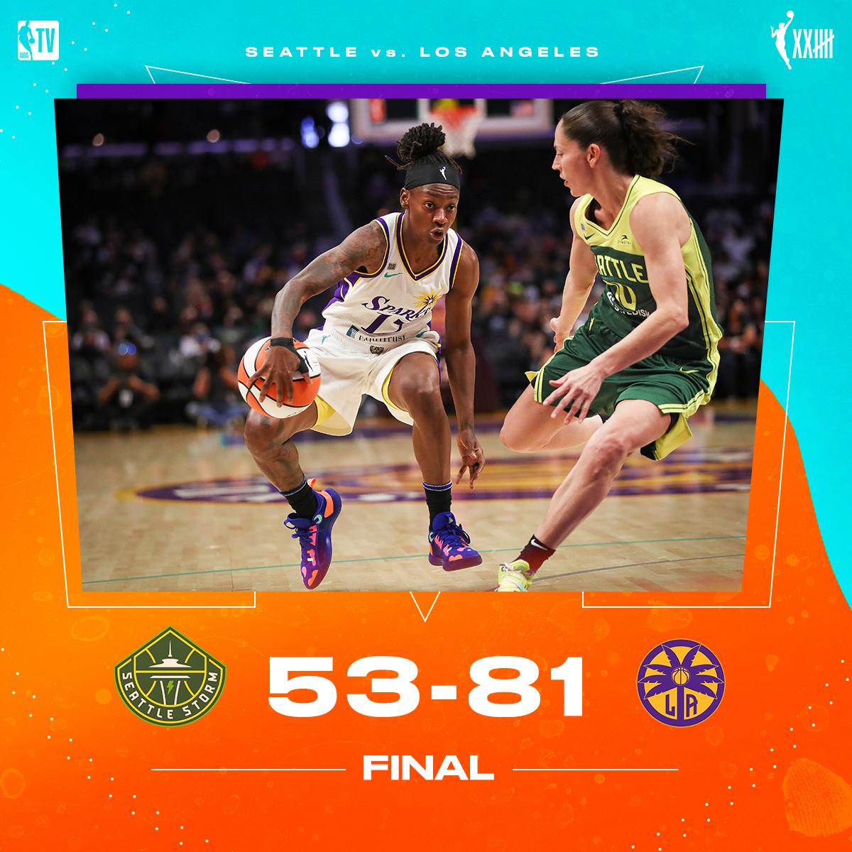 .@LASparks cruise to a win in their final home game of the season 🔥