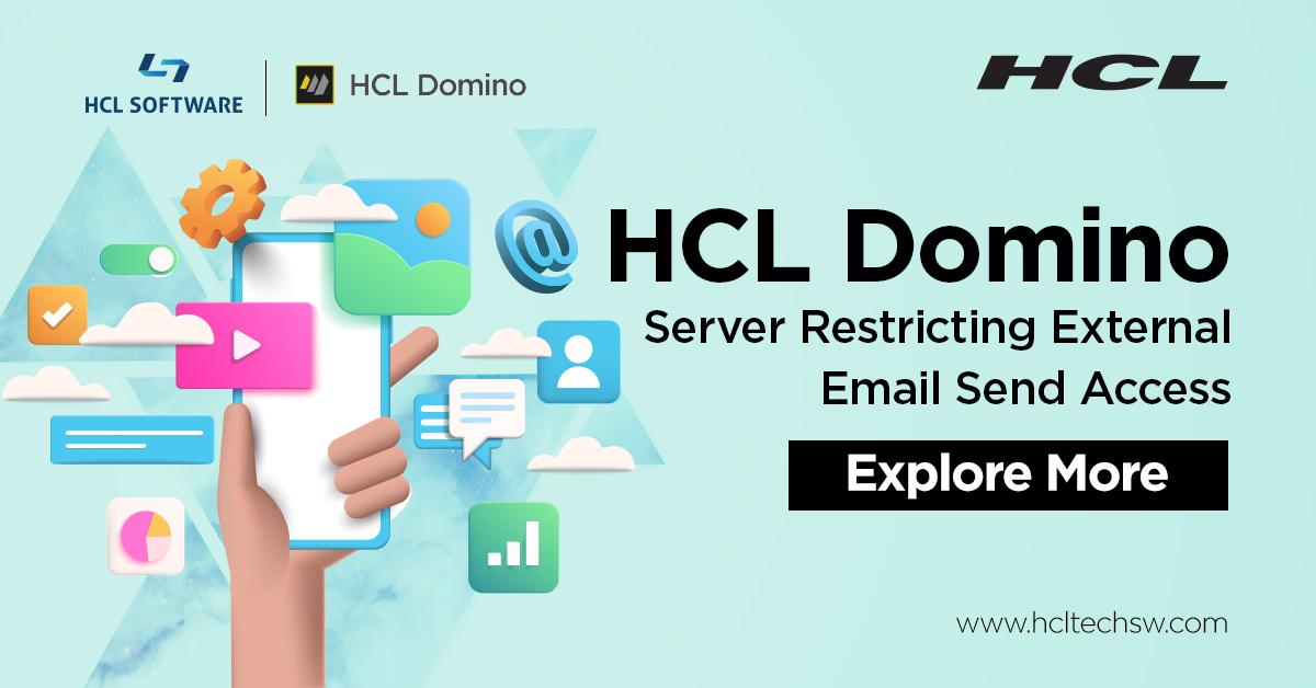 #HCLDomino - Restrict External Email Send Access on #Domino Server #hclswlobp #nocode #lowcode #javascript #github #nodejs #cybersecurity #devops #100DaysOfCode #datascience #ai #bot #codenewbie #iot #Python #Serverless #womenintech https://t.co/58Jk32rl83