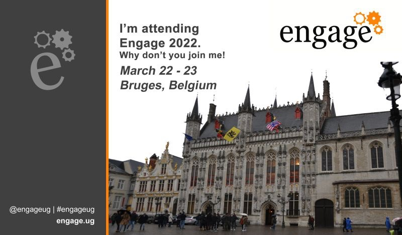 I have registered for an in-person conference! See you in Belgium next year 😃 #engageug #DominoForever