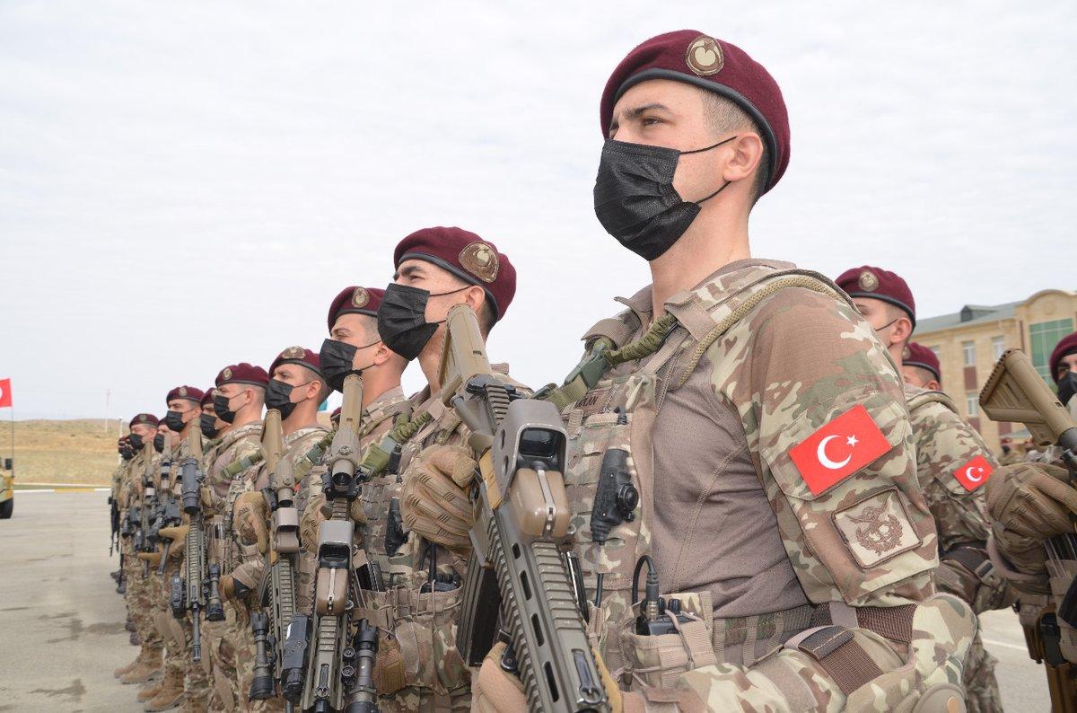 """T.C. Millî Savunma Bakanlığı on Twitter: """"Azerbaycan'ın ev sahipliğinde 11-22 Eylül 2021 tarihleri arasında icra edilmekte olan Türkiye-Azerbaycan-Pakistan Özel Kuvvetler (Üç Kardeş) Tatbikatı'nın, açılış töreni 12 Eylül 2021'de yapıldı. https://t.co ..."""
