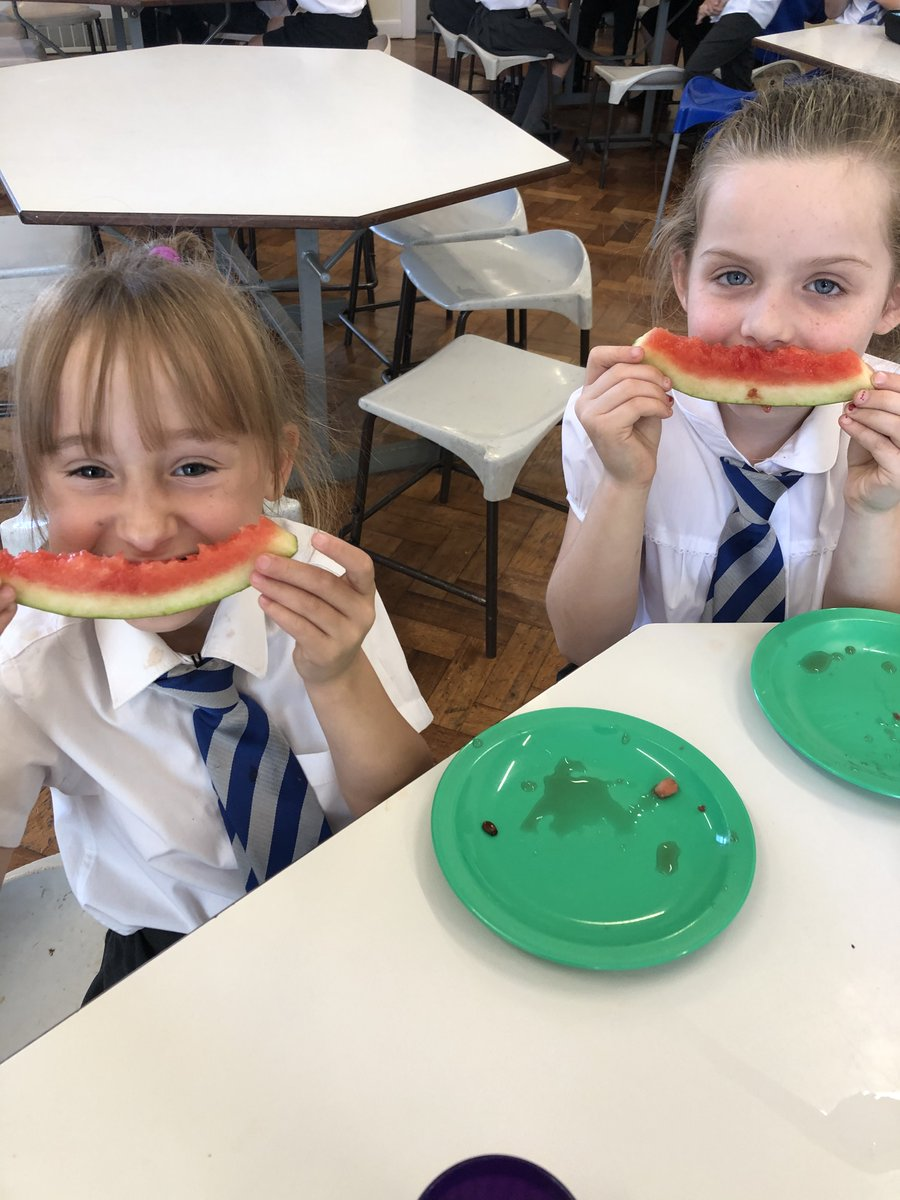 Lunch time at St Peter's! Very nutritional and tasty 🤩🍉🥗🍽