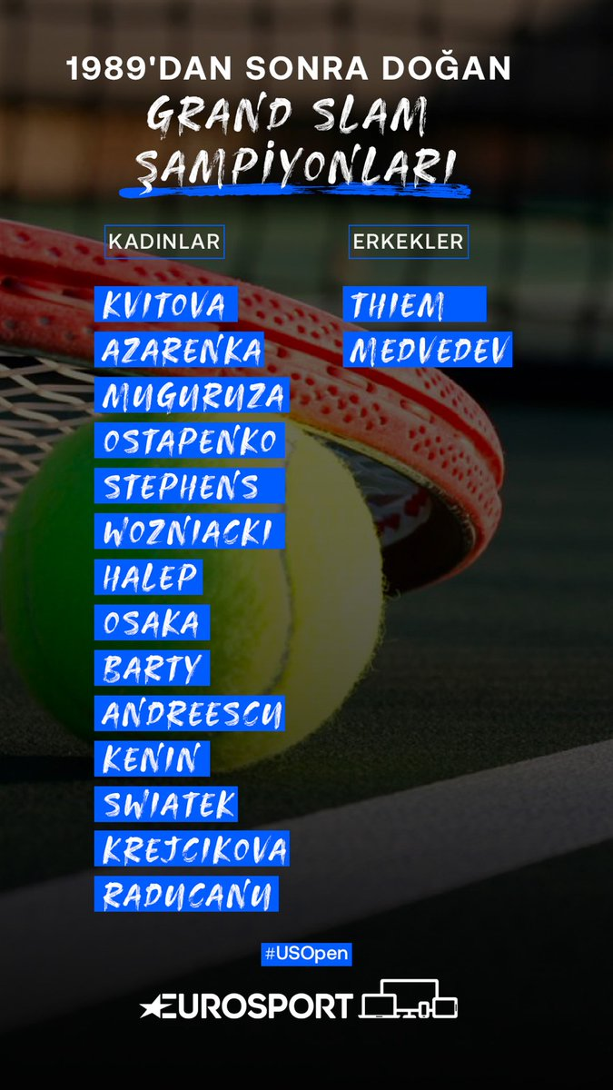 ✍️ Listeye yeni iki isim daha eklendi. #USOpen