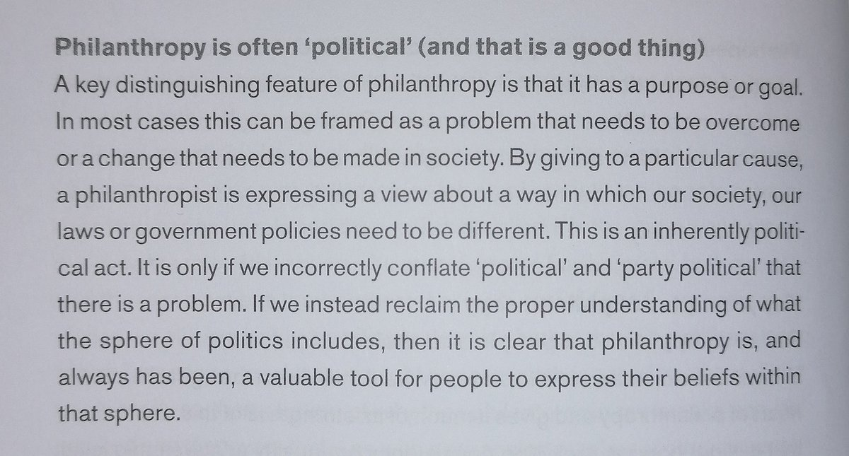 Every time there is another story about politicians or commentators fulminating about charities engaging in supposedly 'unacceptably political' behaviour, I am simultaneously depressed and glad that I put this paragraph in the intro to my book: