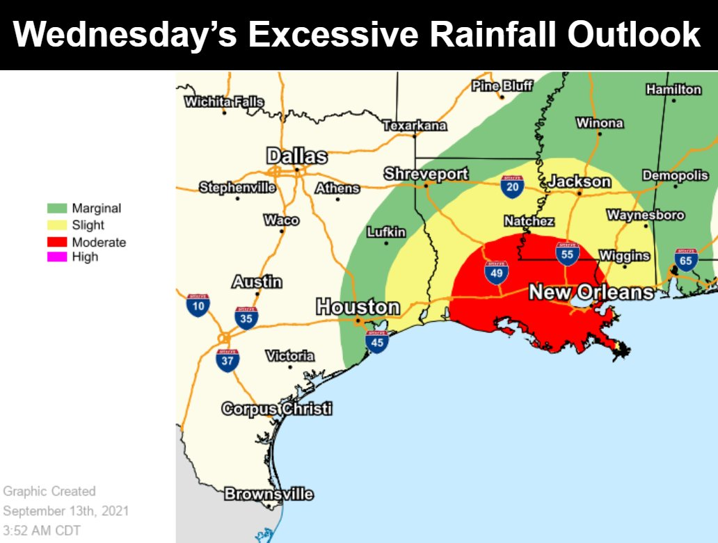 Nicholas is expected to make landfall later today along the Texas Gulf Coast bringing widespread rain and the risk for considerable flash flooding, especially in urban areas. Note the amounts vary significantly across a small distance and to remain prepared and weather aware.