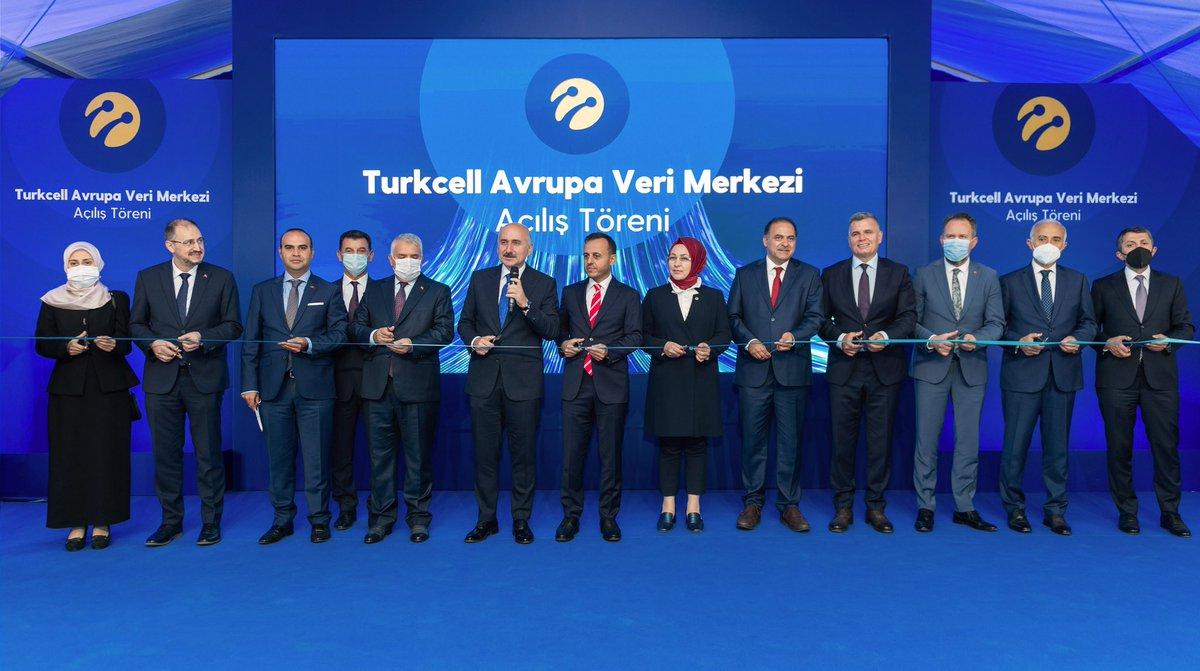 Bugün Avrupa Veri Merkezimizin açılışını Ulaştırma ve Altyapı Bakanımız Sayın Adil Karaismailoğlu'nun @akaraismailoglu katılımıyla Yönetim Kurulu Başkanımız Sayın Bülent Aksu ile birlikte gerçekleştirdik.