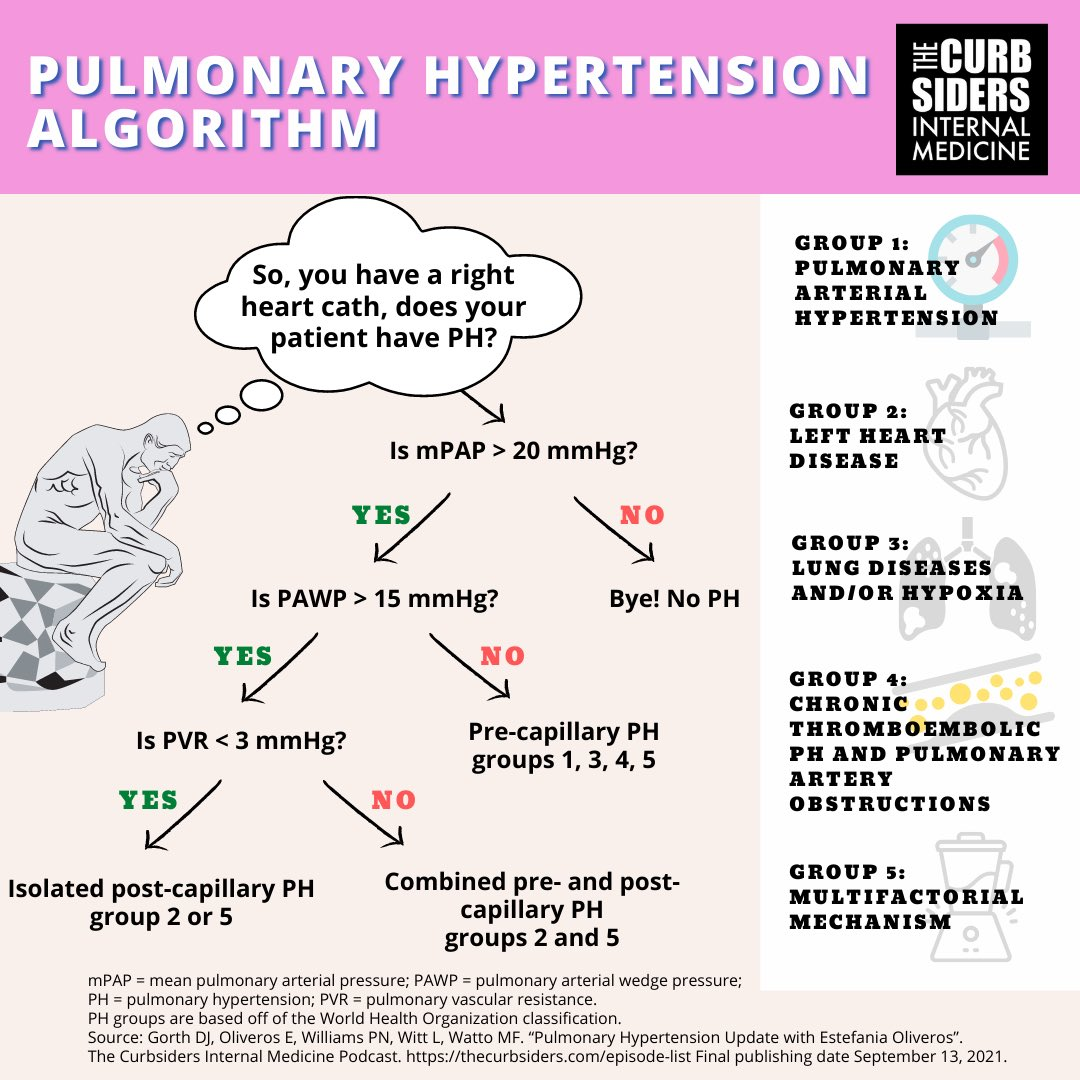 Join us as we take a 6-minute walk through the definition, presenting symptoms, & diagnosis of pulmonary hypertension w/ @EstefaniaOS who helps us get on the right side of hypertension on the right side of the heart! thecurbsiders.com/podcast/294 #MedEd #FOAMed
