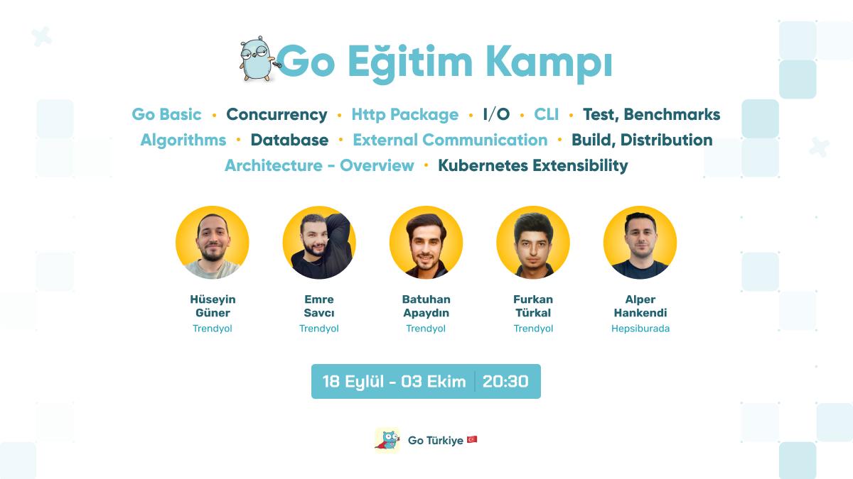 1.000+ katılımcıyla 18 Eylül - 3 Ekim arasında düzenlenecek 'Go Eğitim Kampı'na ücretsiz katılabilirsin! Detaylar Kommunity'de📢 kty.li/Bjzoa
