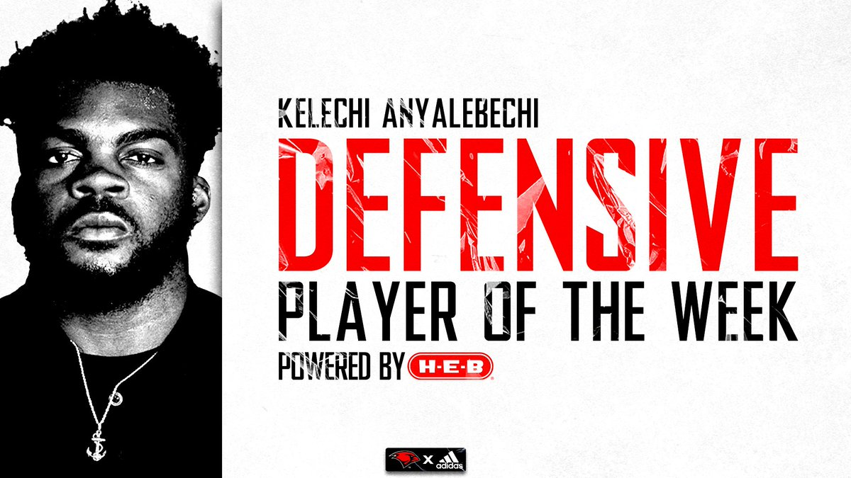 Congrats to @Kelechi_an for earning Defensive Player of the Week Powered by @HEB #TheWord
