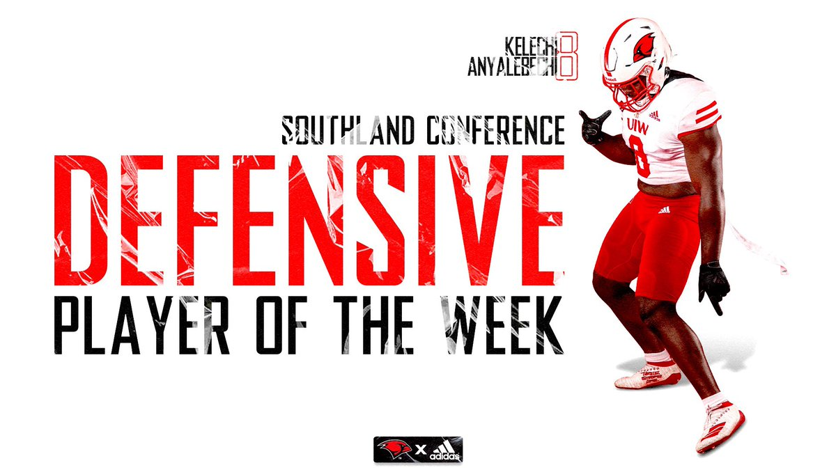 Congratulations to @Kelechi_an on receiving @SouthlandSports Defensive Player of the Week!! #TheWord
