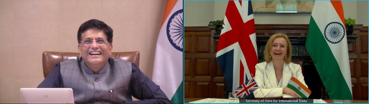 भारत और ब्रिटेन ने 1 नवंबर 2021 तक एफटीए पर वार्ता शुरू करने का लक्ष्य रखा