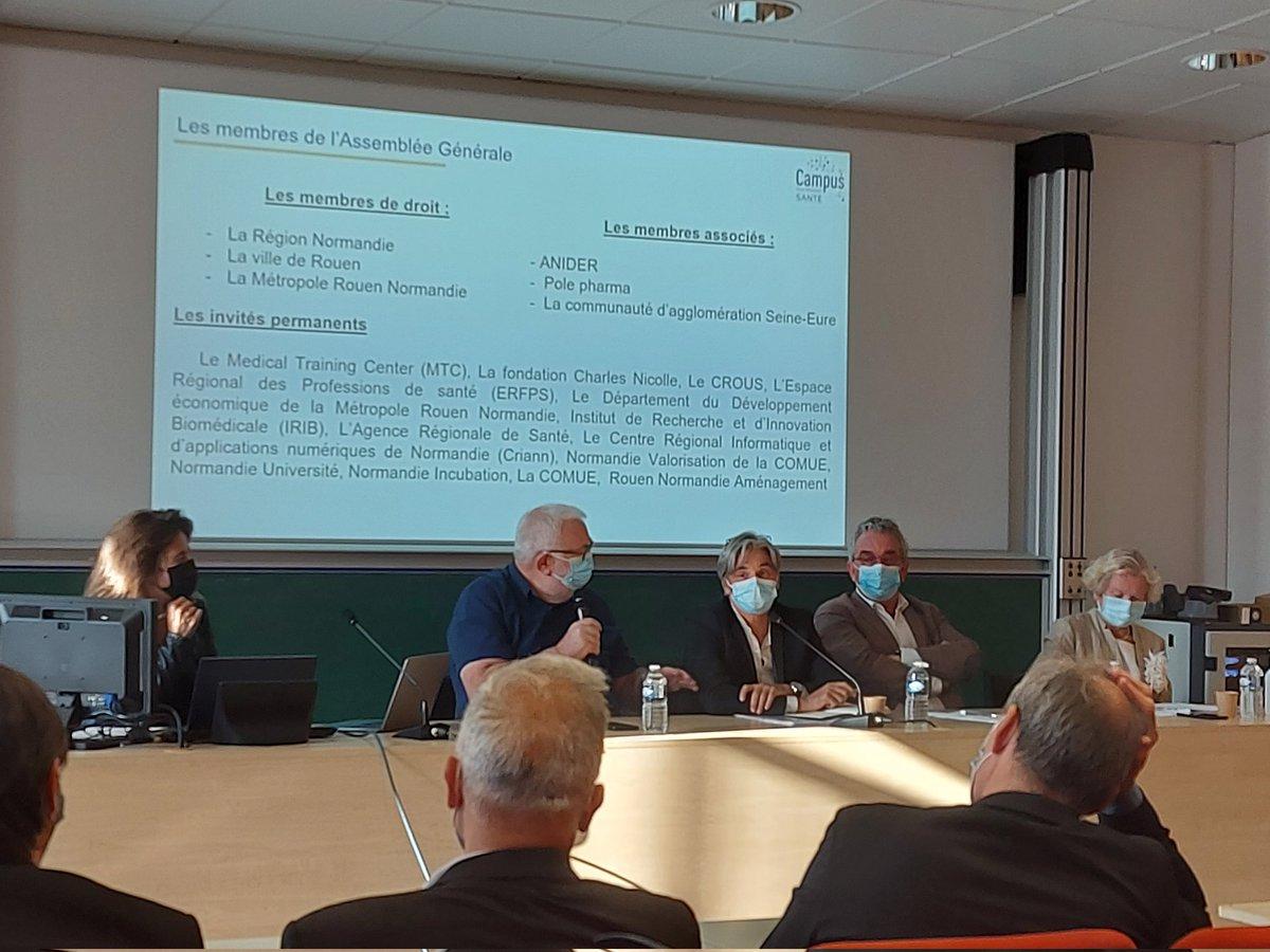 AG du #Campus #santé à #Rouen ouvert par son président D.Havis président de la @Matmut https://t.co/rZXhlKzqTI