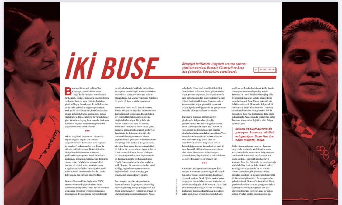 Olimpiyatın yıldızlarından @busenazsurmneli ve @busenazckroglu'nun yolculuklarını yazdım. Okumak isterseniz @SocratesDergi Eylül sayısında.