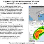 Image for the Tweet beginning: #TropicalStormNicholas is set to hit