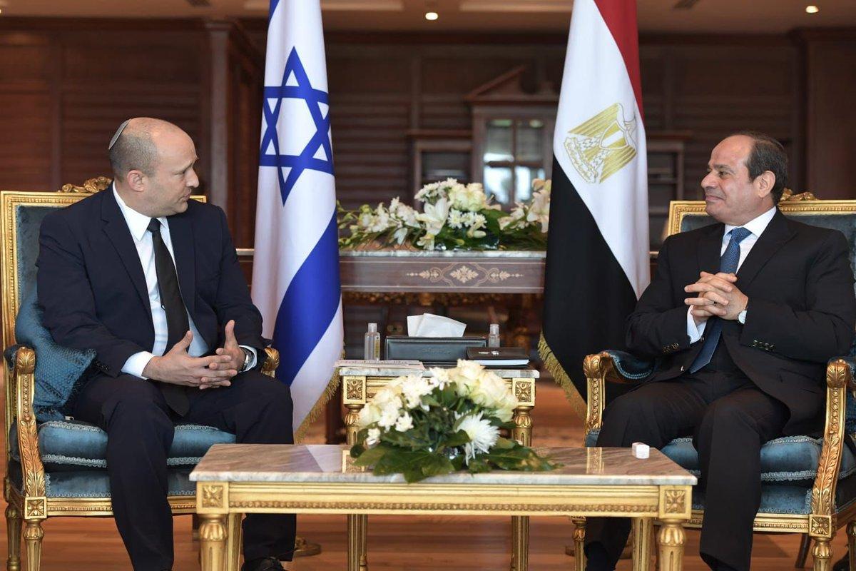 بحث الزعيمان الإسرائيلي و المصري سلسلة من الملفات بما فيها السبل لتعميق وتعزيز