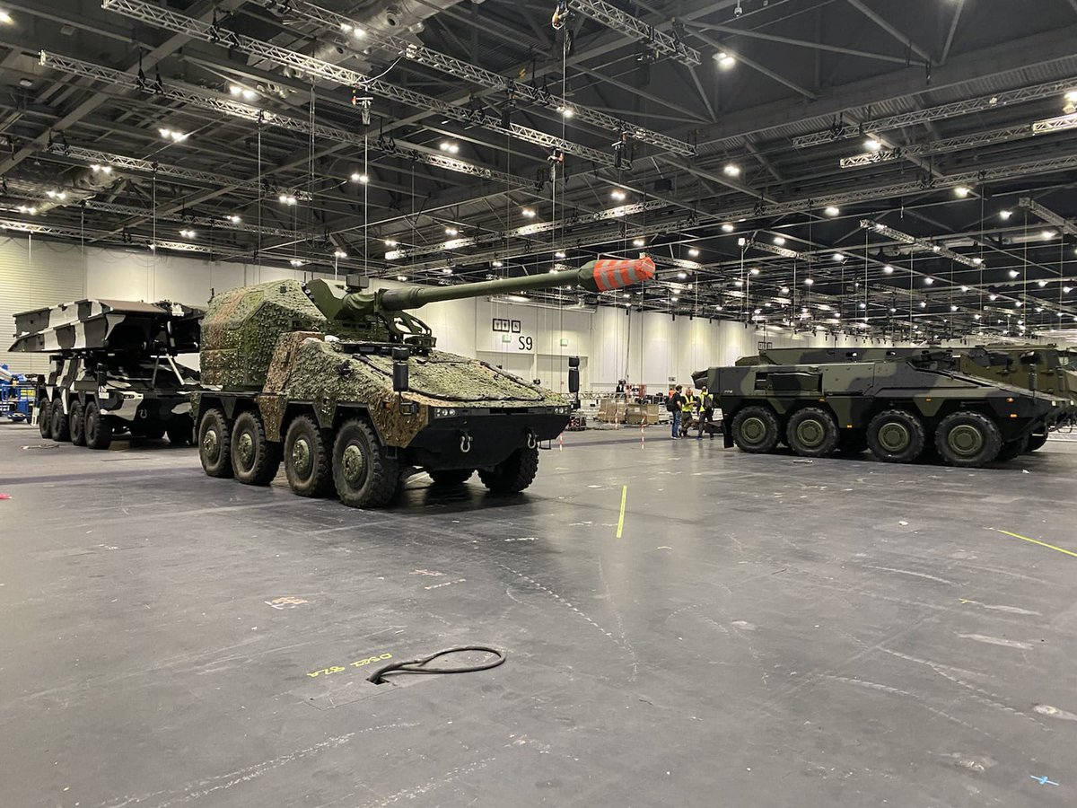 You wait two years for a Boxer vehicle at DSEI - and then three turn up at the same time. See WFEL on stand H6-410, showcasing military bridging systems.