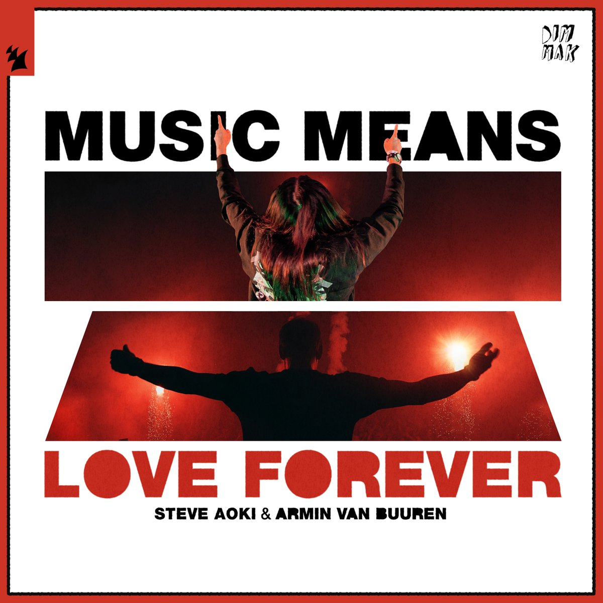 MUSIC MEANS LOVE FOREVER! New collab w/ @ArminVanBuuren coming this Friday!!! #MusicMeansLoveForever  🎵❤♾.y.at